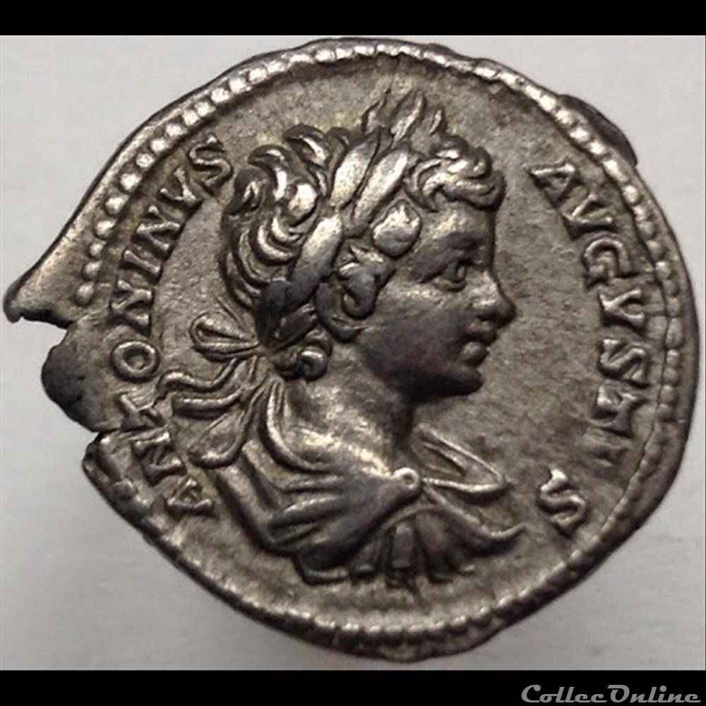 monnaie antique romaine caracalla denier rectori orbis ric 40