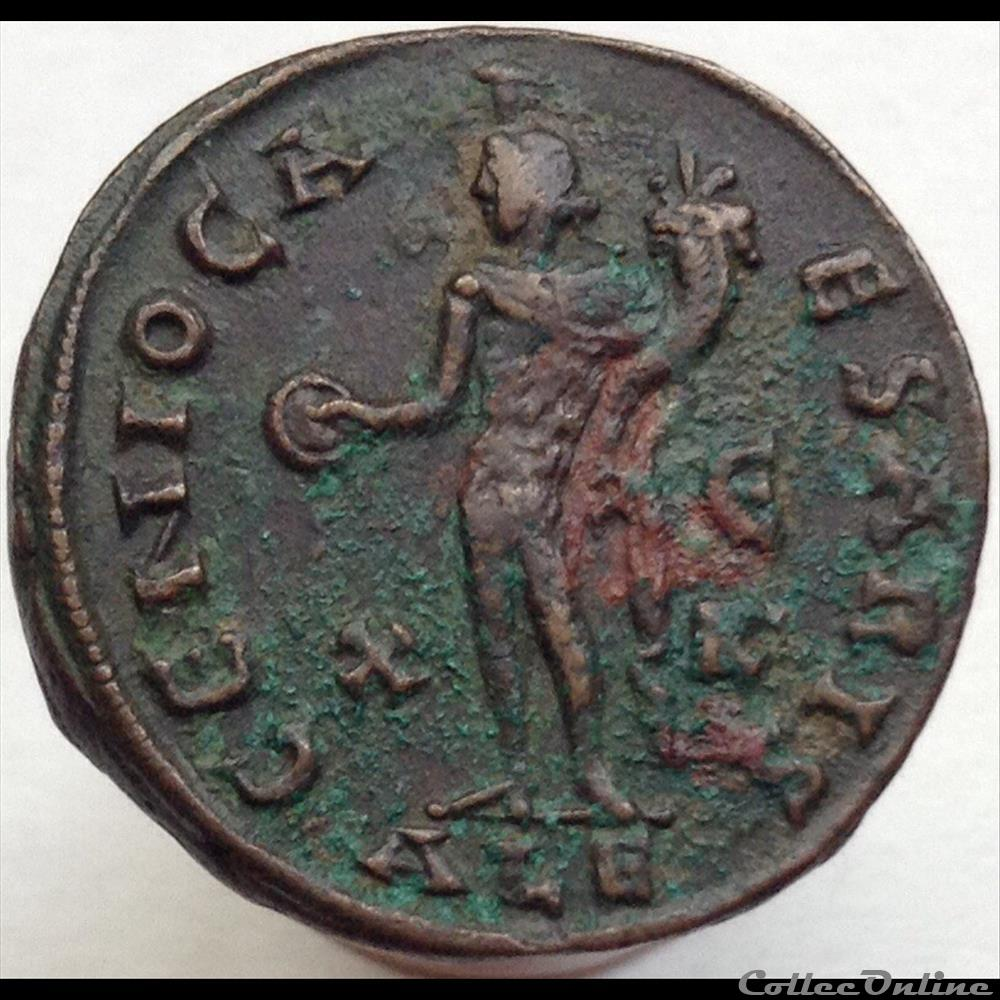 monnaie antique romaine maximin ii daia follis genio caesaris ric 78