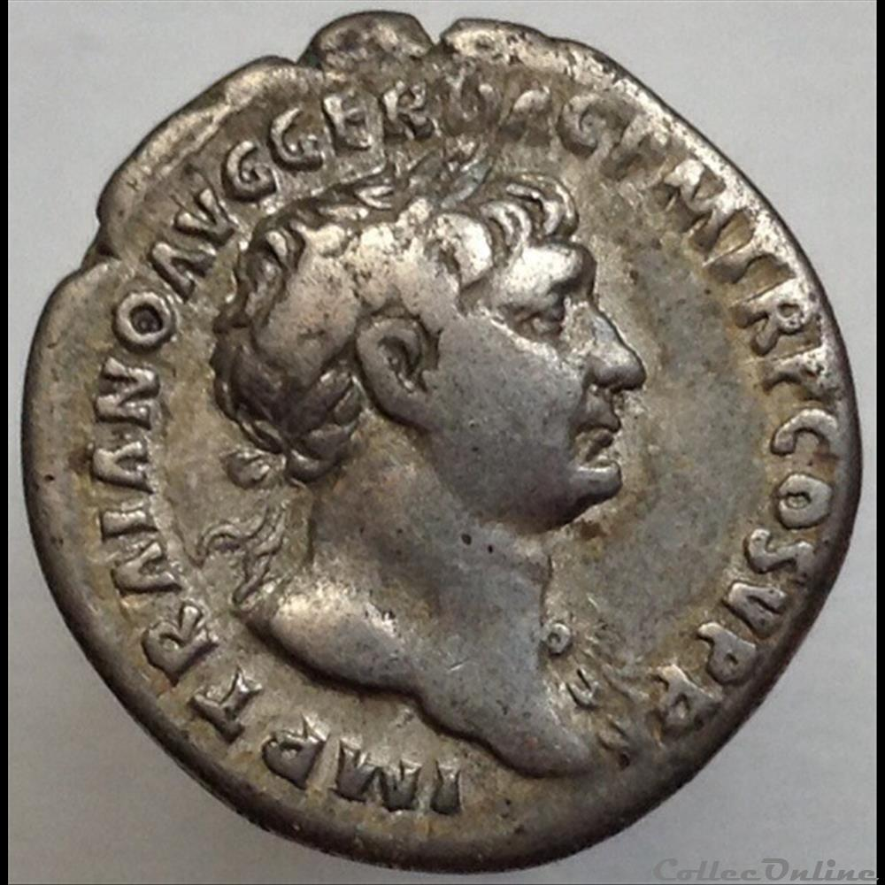 monnaie antique romaine trajan denier spqr optimo principi