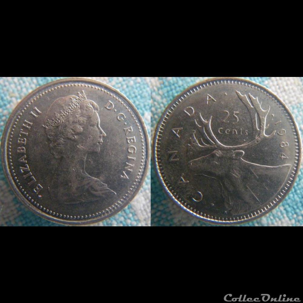 monnaie monde canadum 25 cents 1984