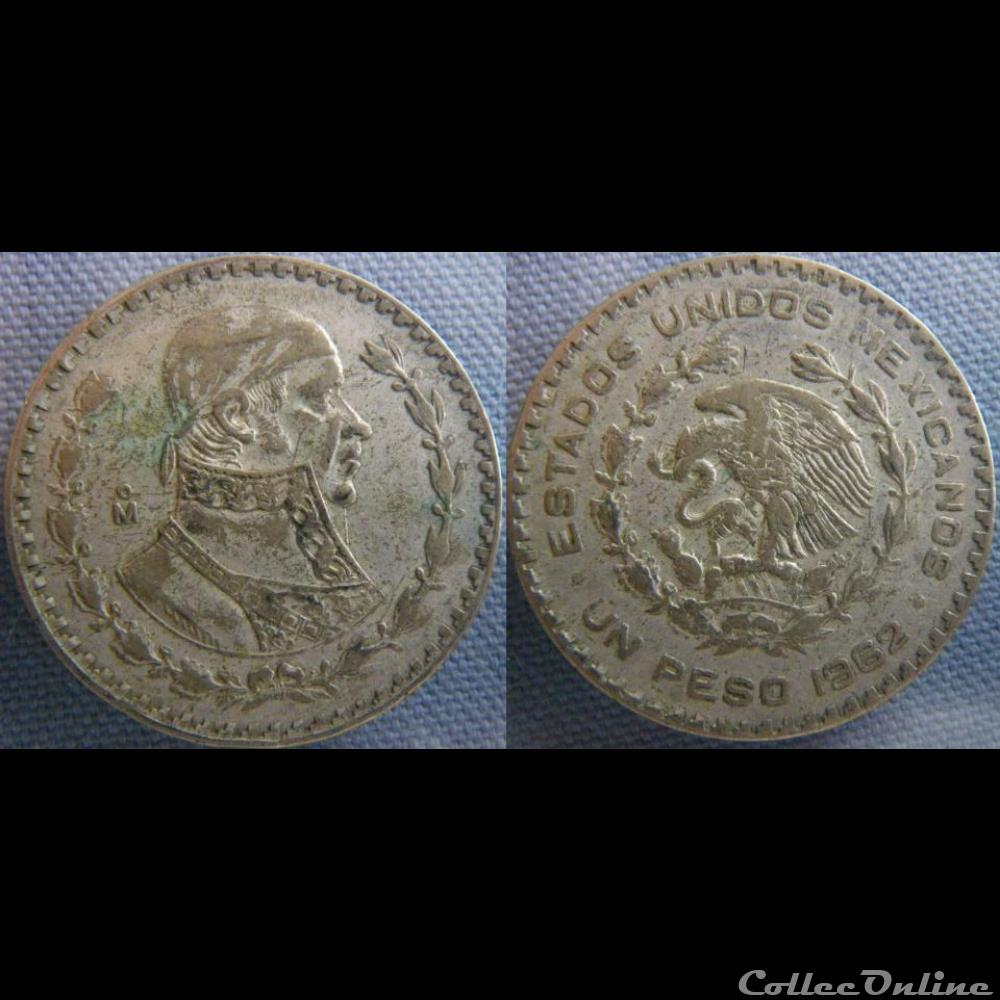monnaie monde mexique 1 peso 1962