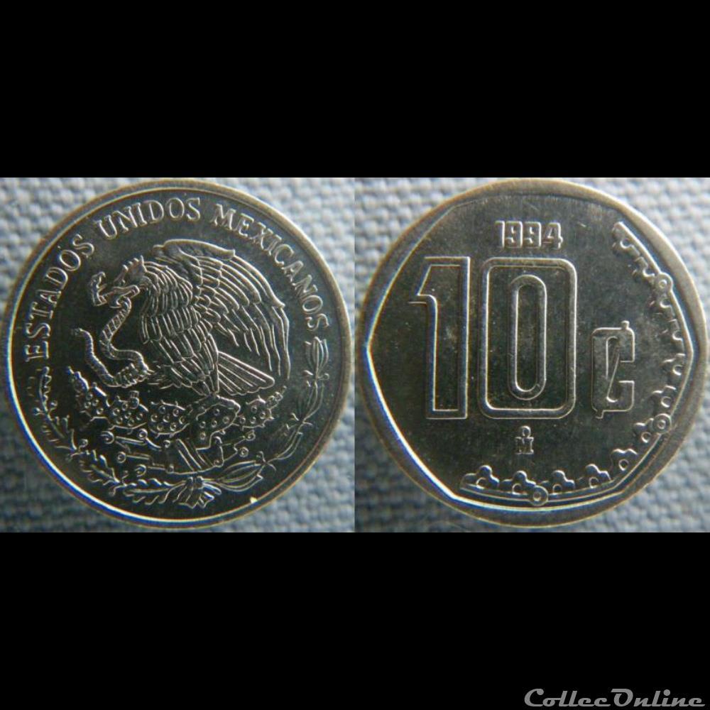 monnaie monde mexique 10 centavos 1994