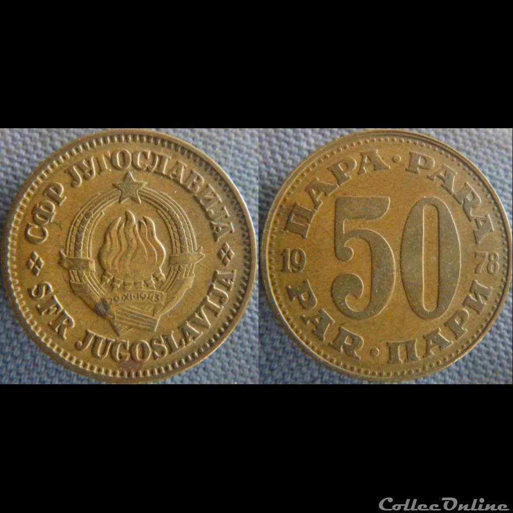monnaie monde yougoslavie 50 para 1978