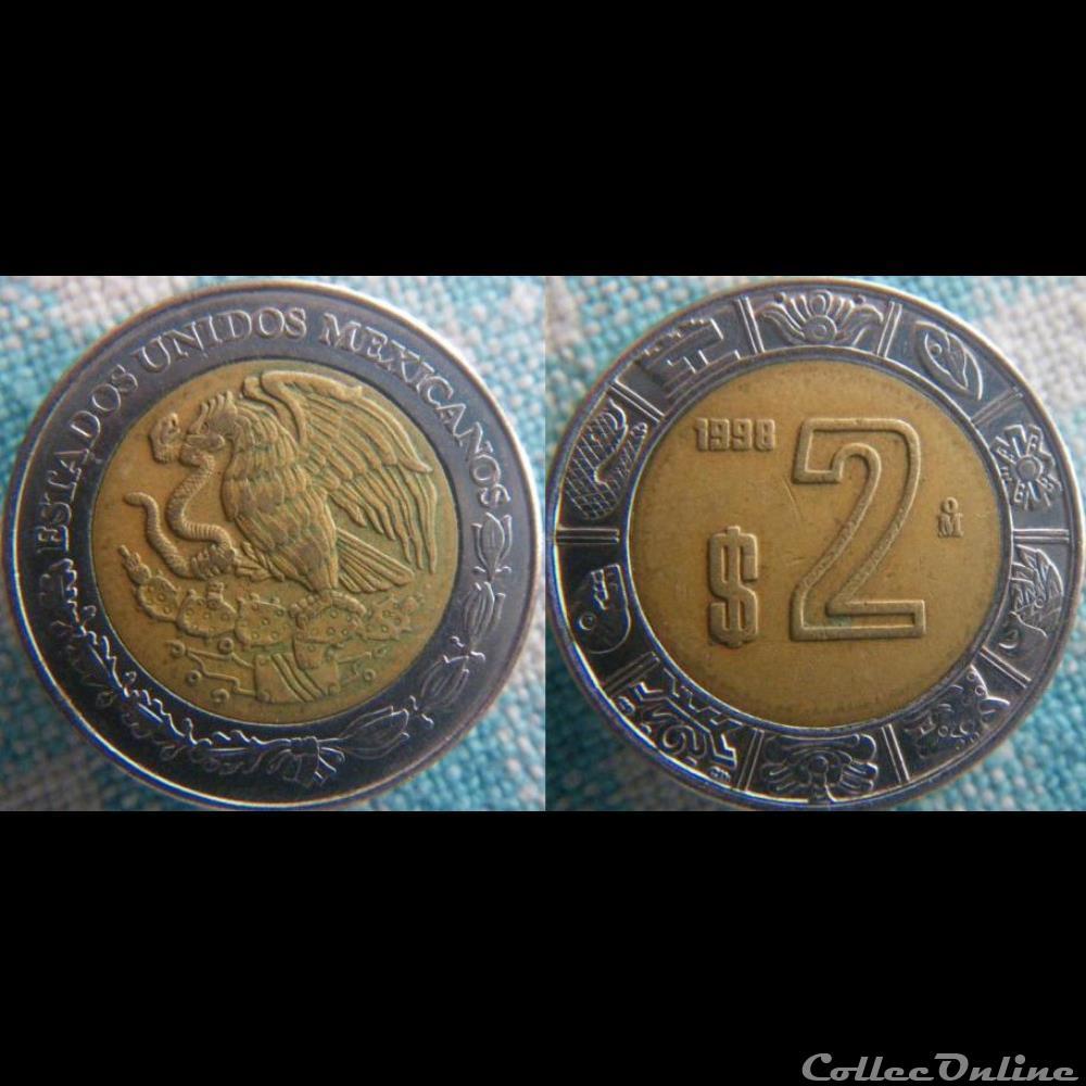 monnaie monde mexique 2 pesos 1998