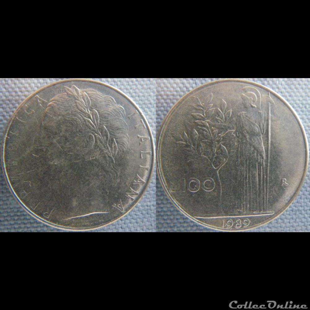 monnaie monde italie 100 lire 1989