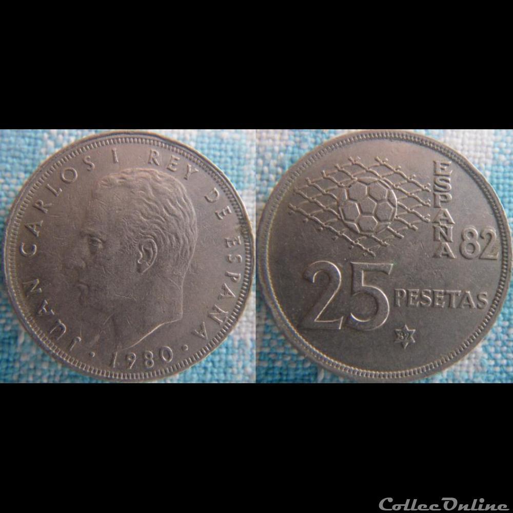 monnaie monde espagne 25 pesetas 1980 82