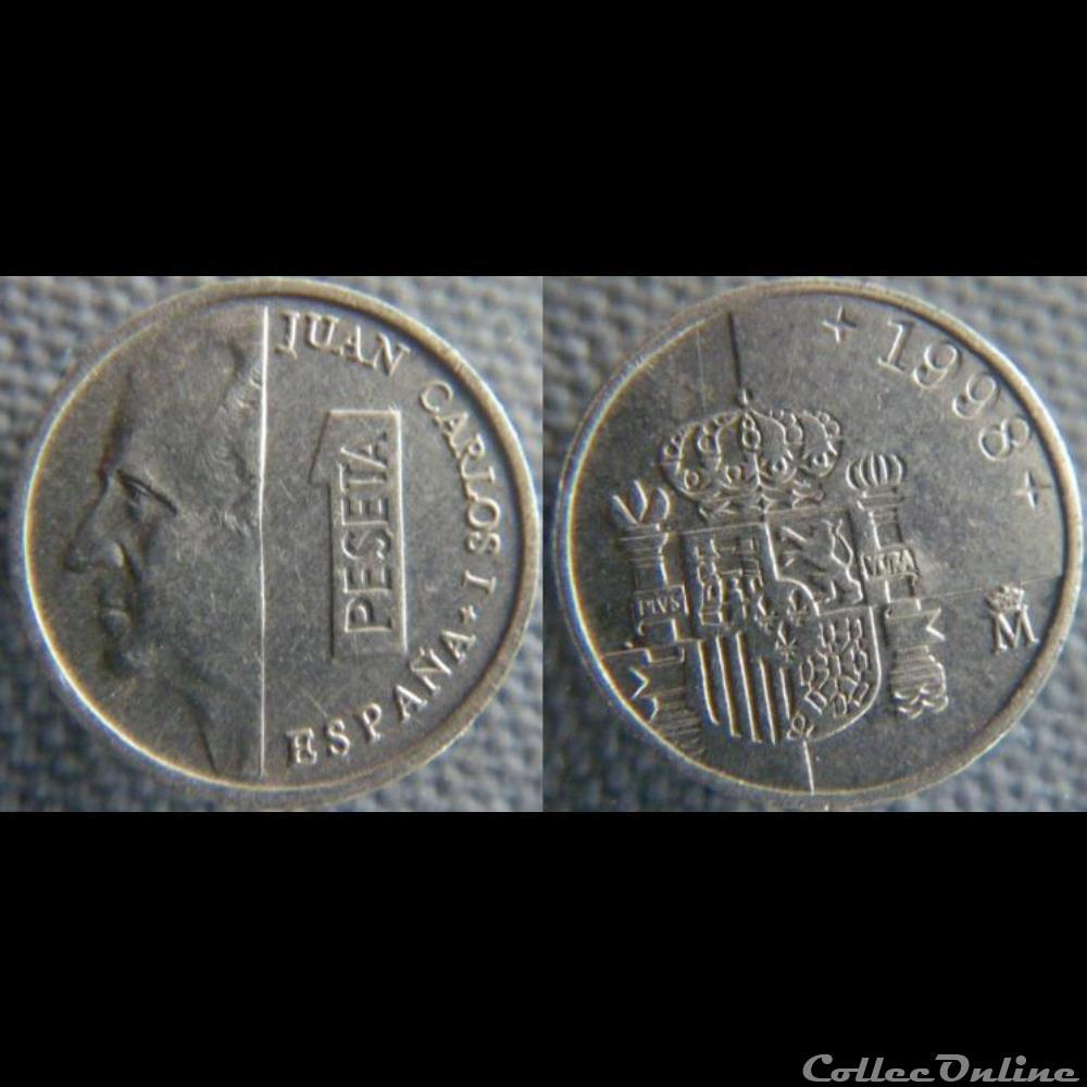 monnaie monde espagne 1 peseta 1998
