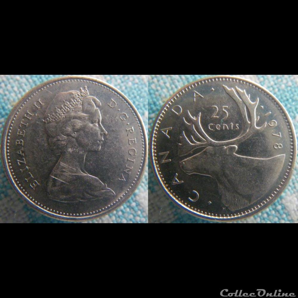 monnaie monde canadum 25 cents 1978
