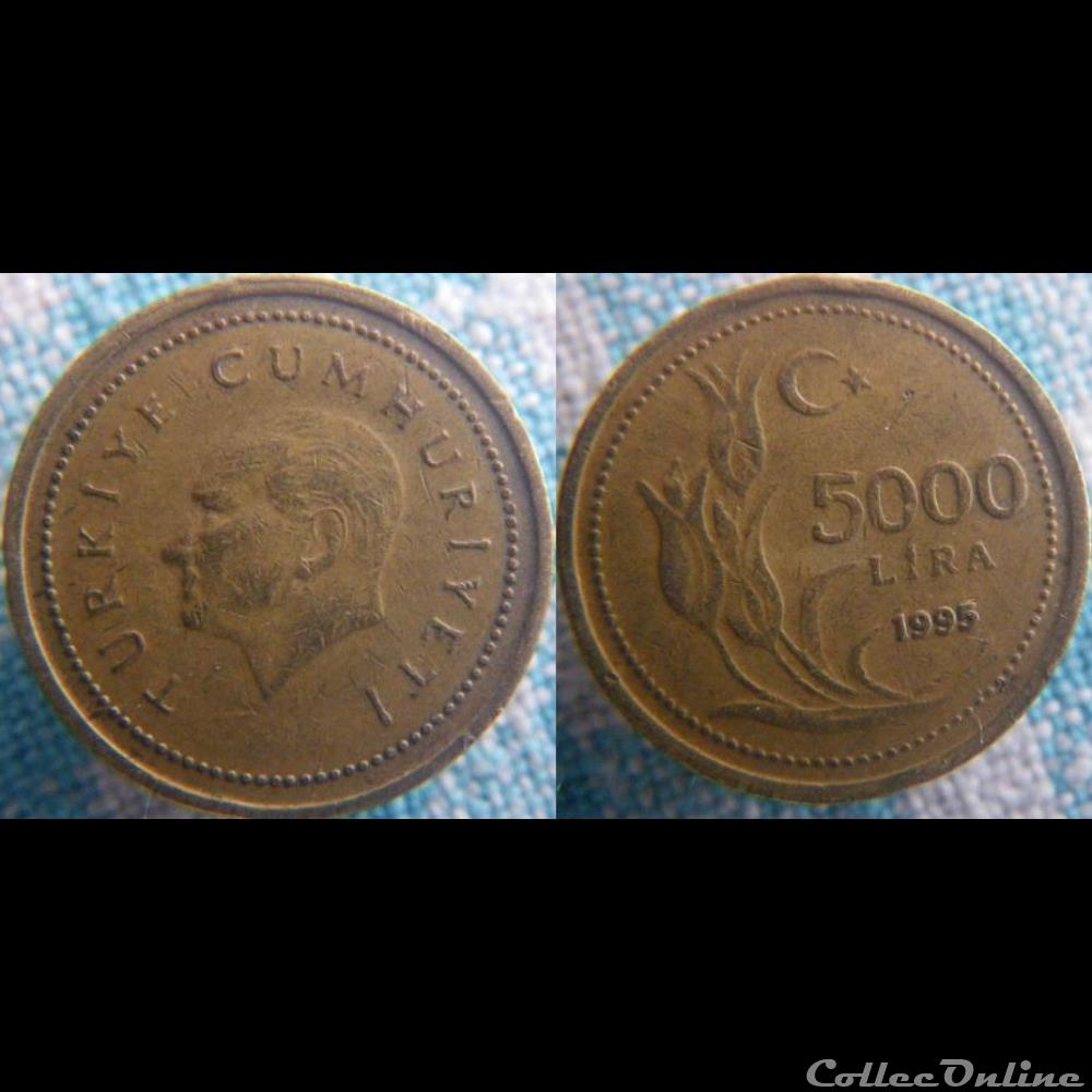 monnaie monde turquie 5 000 livre 1995