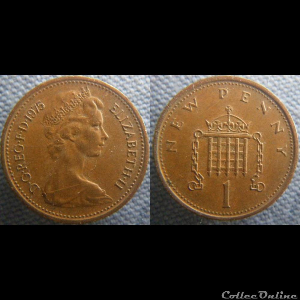 1 New Penny 1975 : Moedas, Moedas do mundo (1790 -     ), United