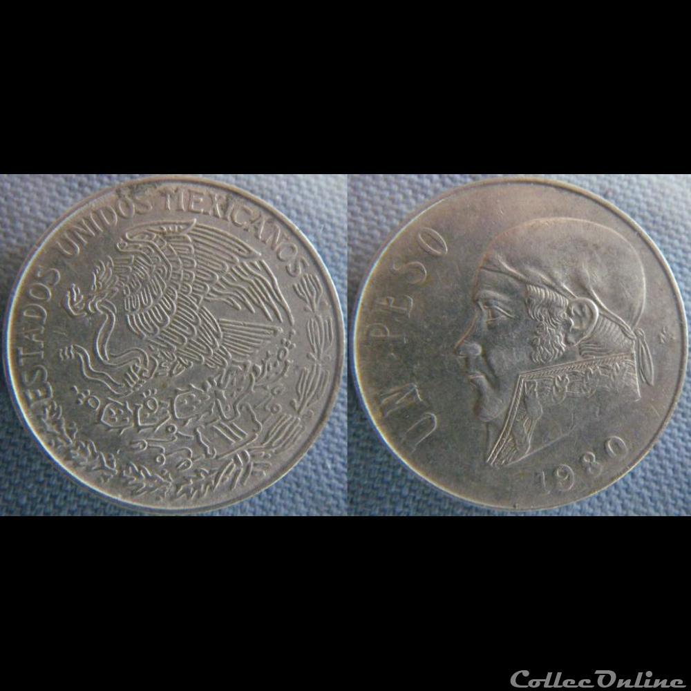 monnaie monde mexique 1 peso 1980