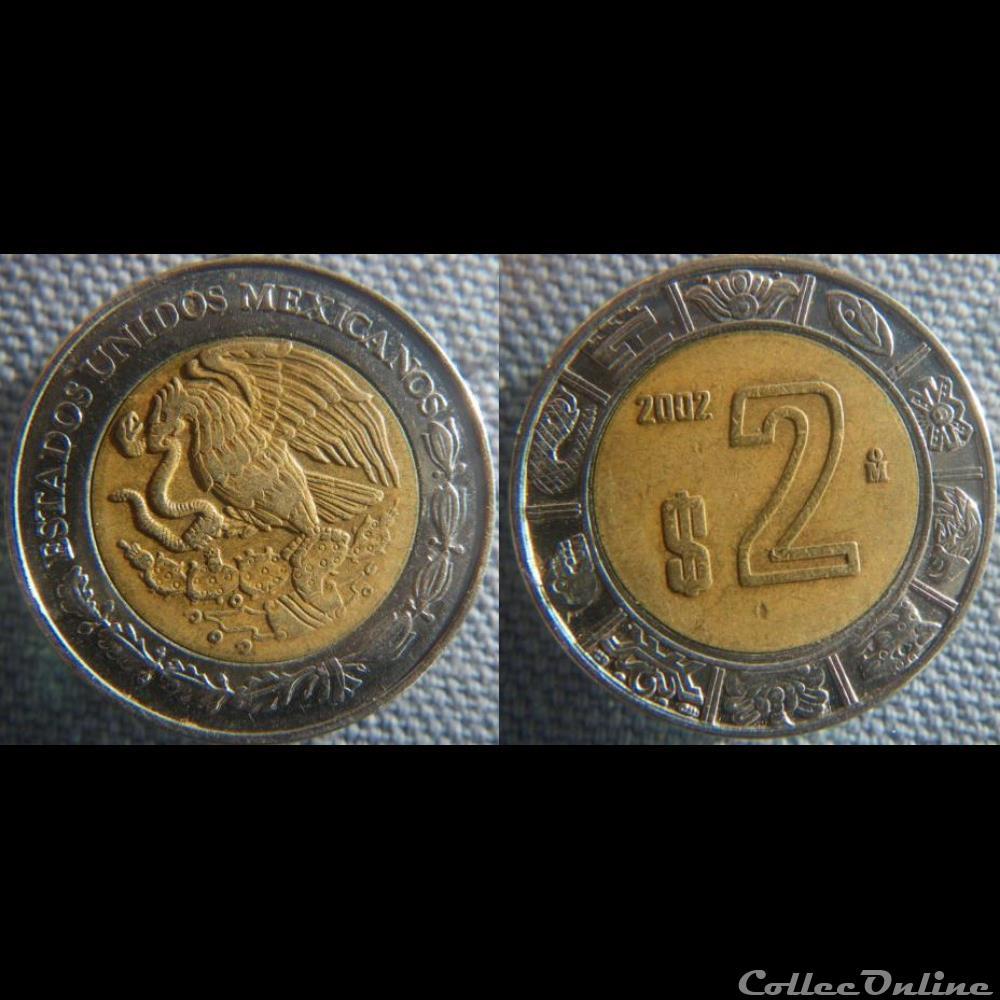 monnaie monde mexique 2 pesos 2002