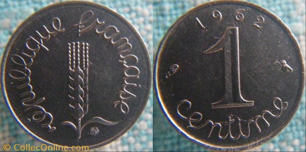 monnaie france a moderne 1 centime 1962