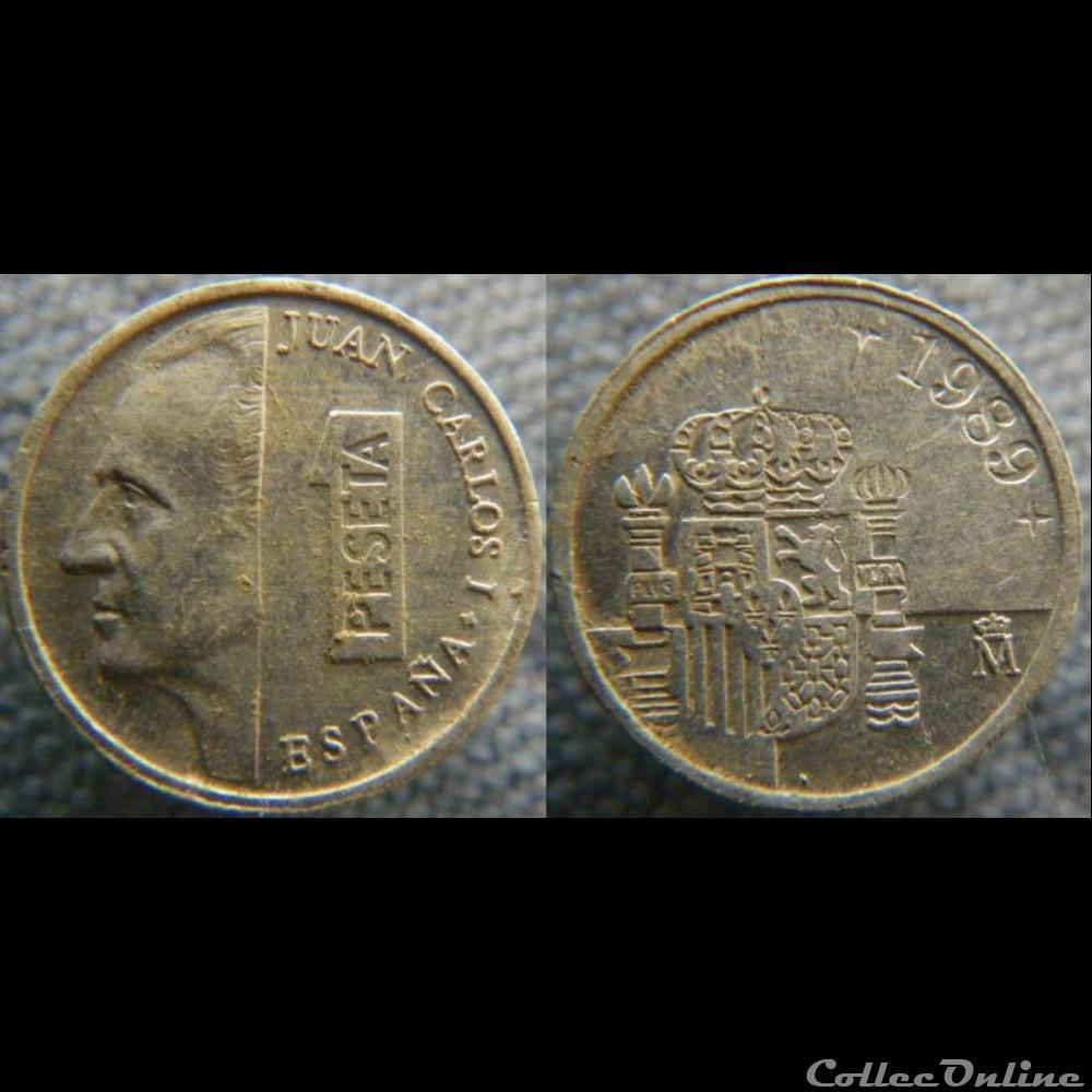 monnaie monde espagne 1 peseta 1989