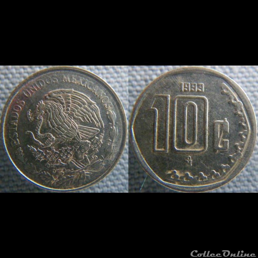 monnaie monde mexique 10 centavos 1993
