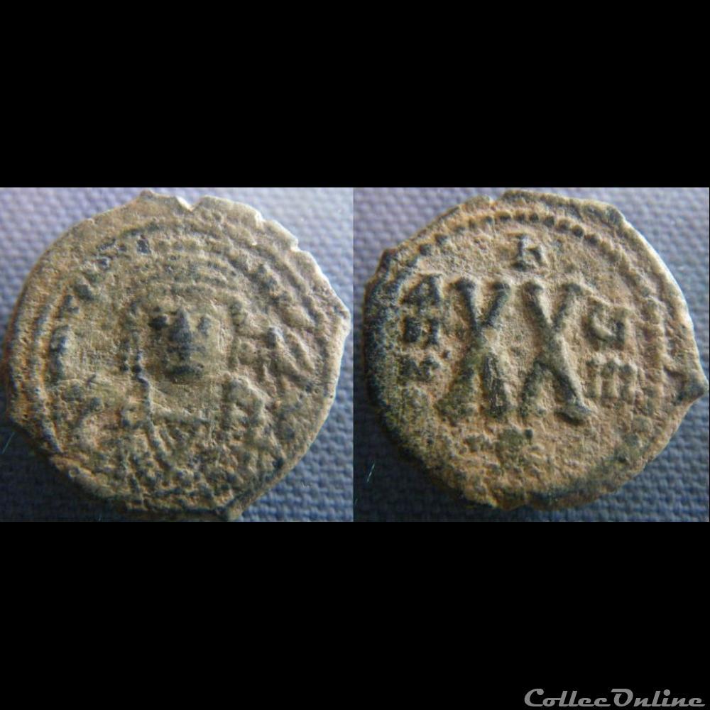 monnaie antique byzantine tibere ii constantin demi follis antioche