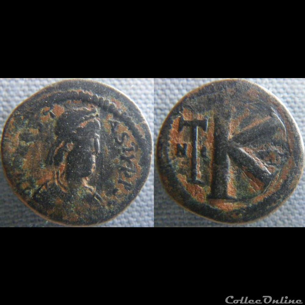 monnaie antique byzantine anastase demi follis nicomedie