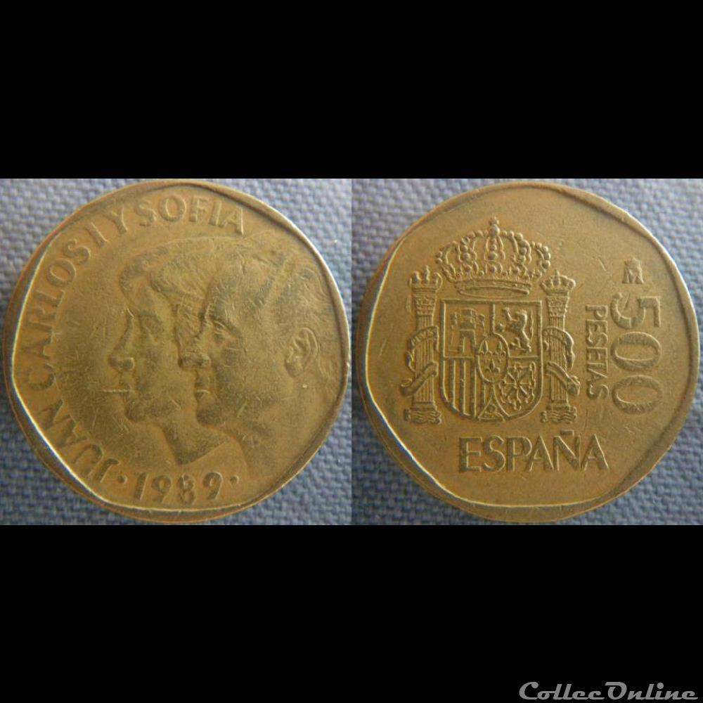monnaie monde espagne 500 pesetas 1989