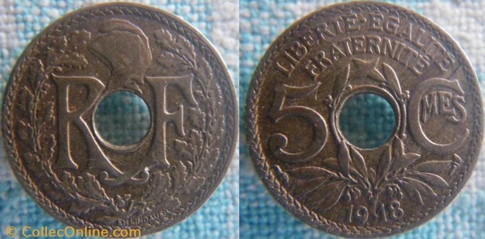 monnaie france a moderne 5 centimes 1918