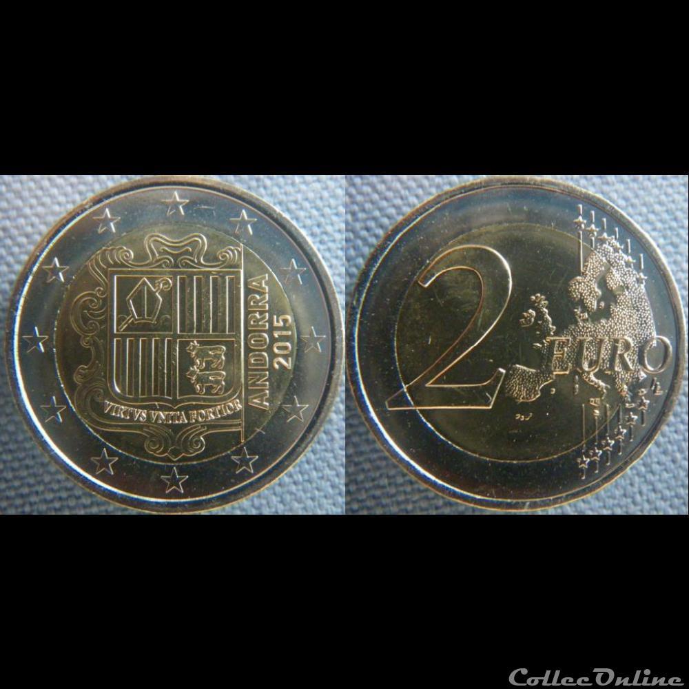 monnaie monde andorre 2 euros 2015