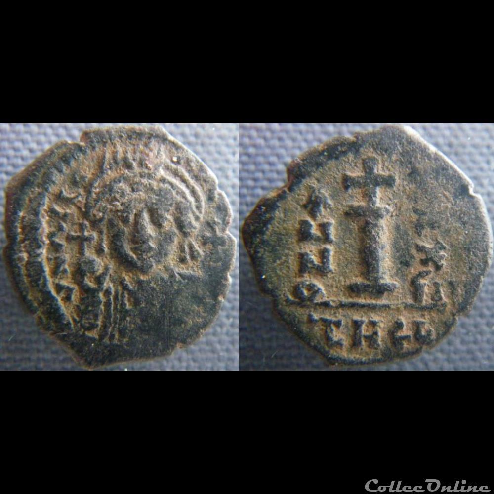 monnaie antique av jc ap byzantine justinien decanummium antioche
