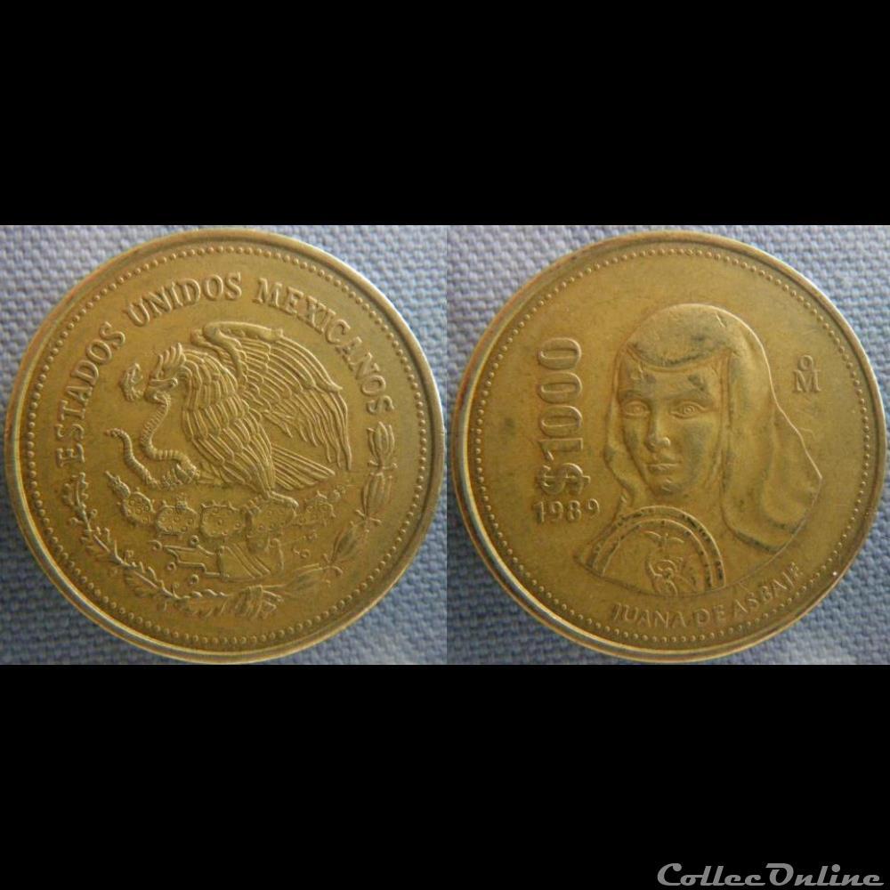monnaie monde mexique 1000 pesos 1989