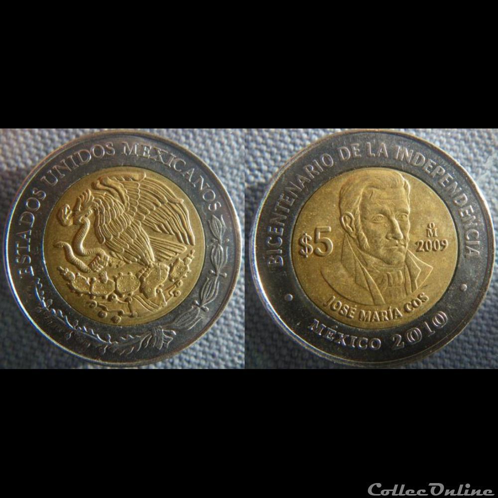 monnaie monde mexique 5 pesos 2009