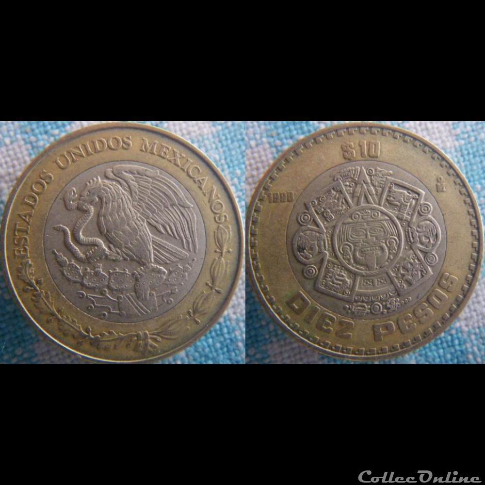 monnaie monde mexique 10 pesos 1998