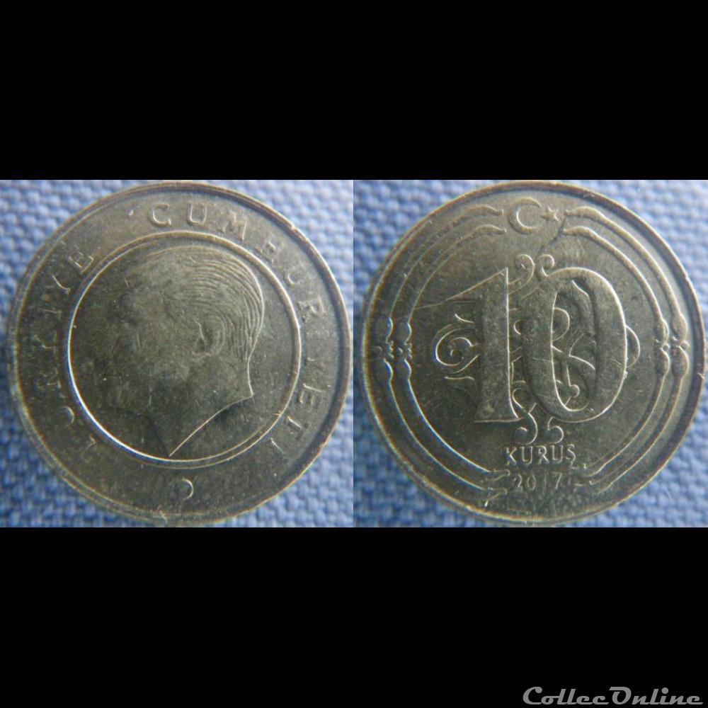 monnaie monde turquie 10 kurus 2017