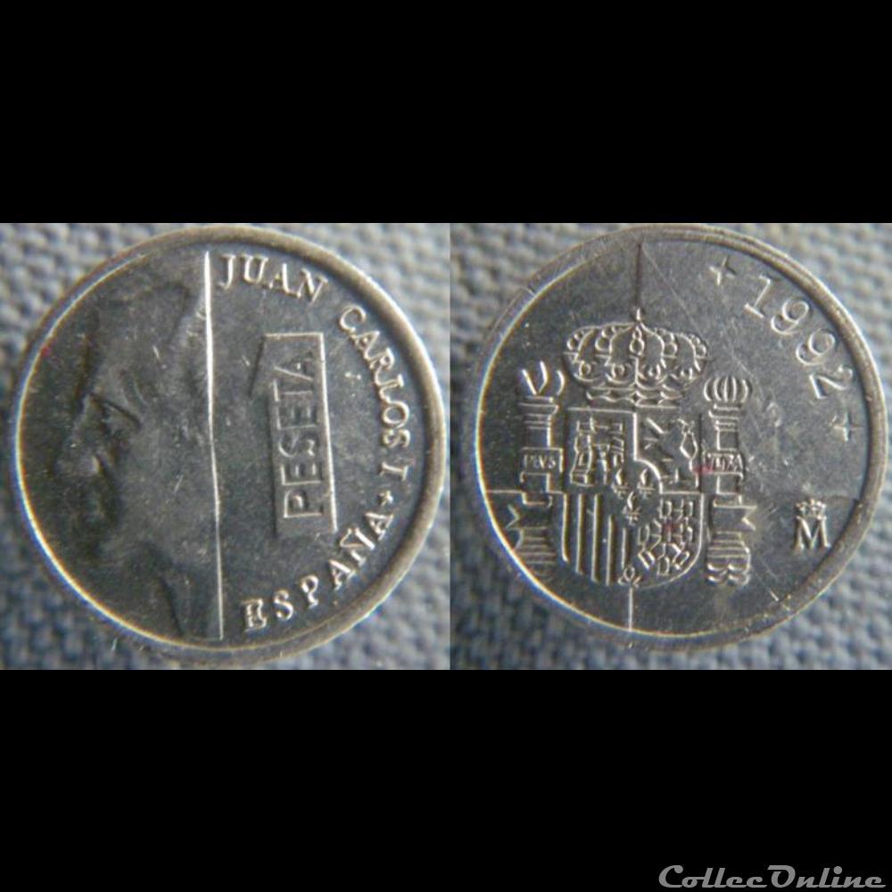 monnaie monde espagne 1 peseta 1992