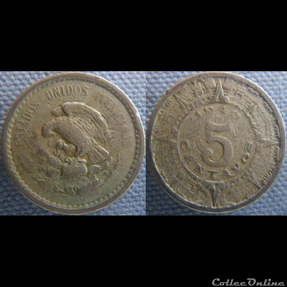monnaie monde mexique 5 centavos 1940