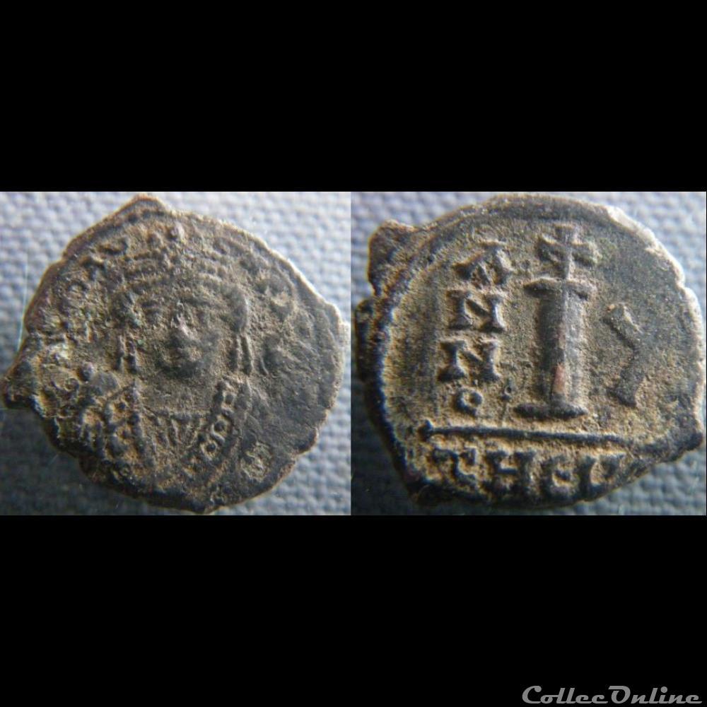 monnaie antique byzantine maurice tibere decanummium antioche