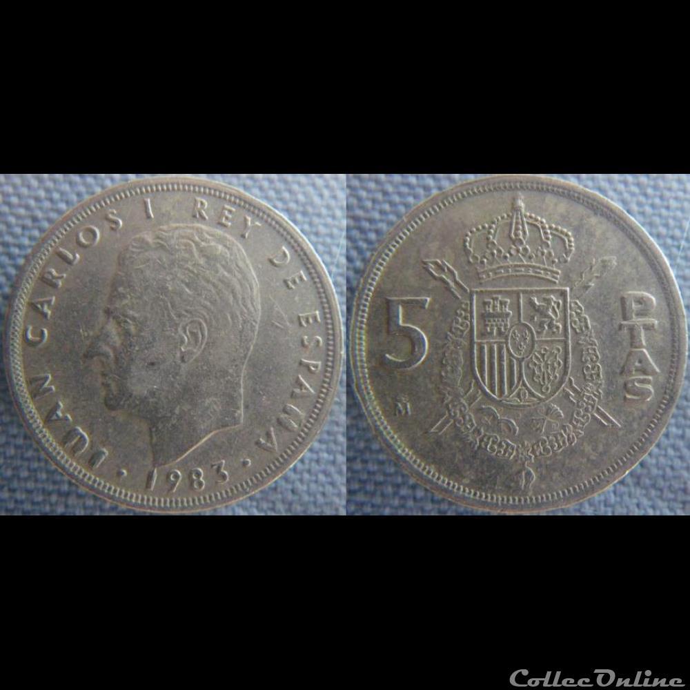 monnaie monde espagne 5 pesetas 1983