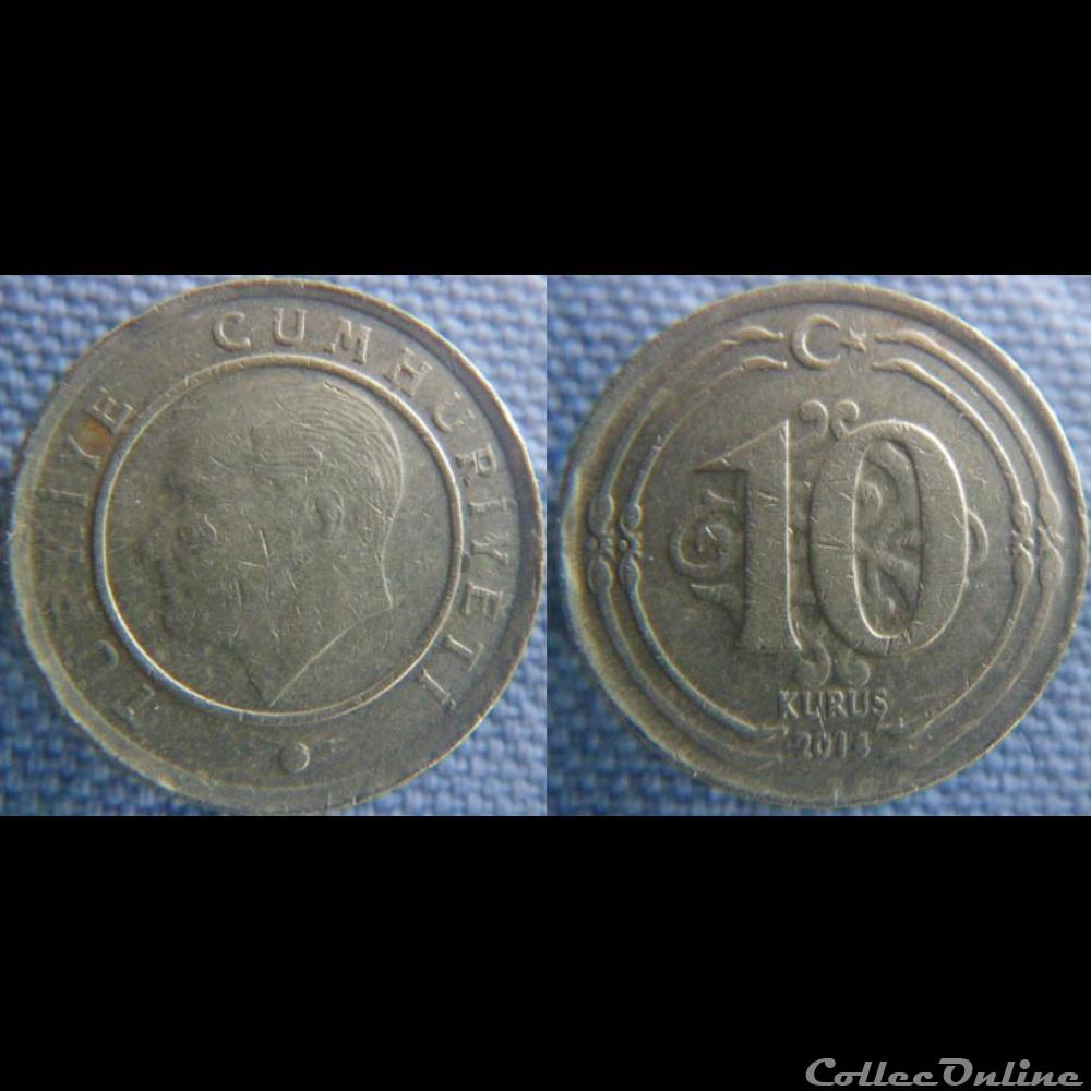 monnaie monde turquie 10 kurus 2014