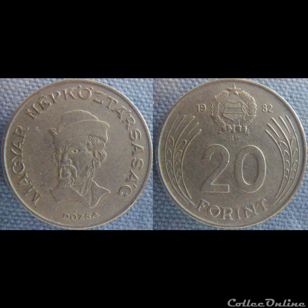 monnaie monde hongrie 20 forint 1982