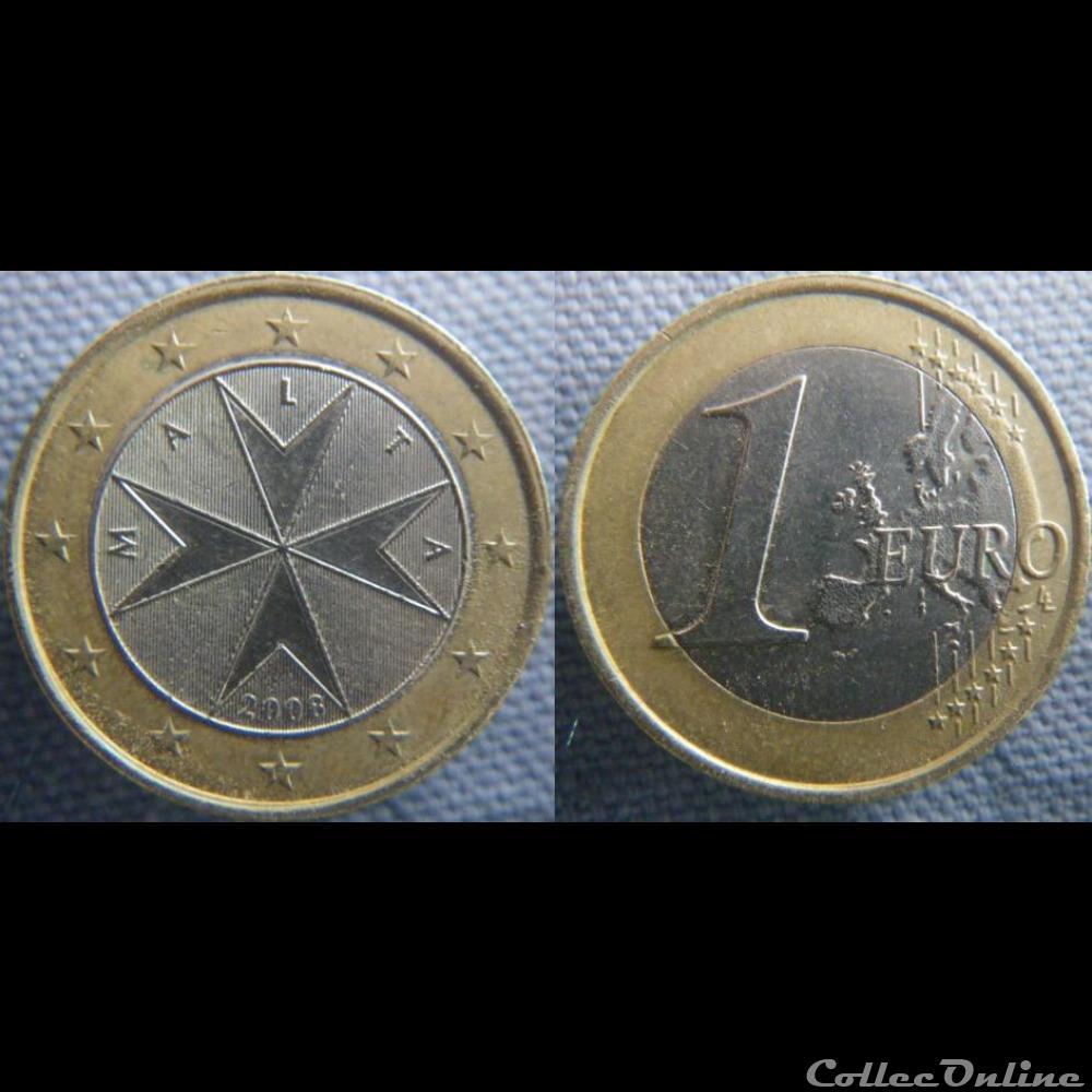 monnaie malte 1 euro 2008 f