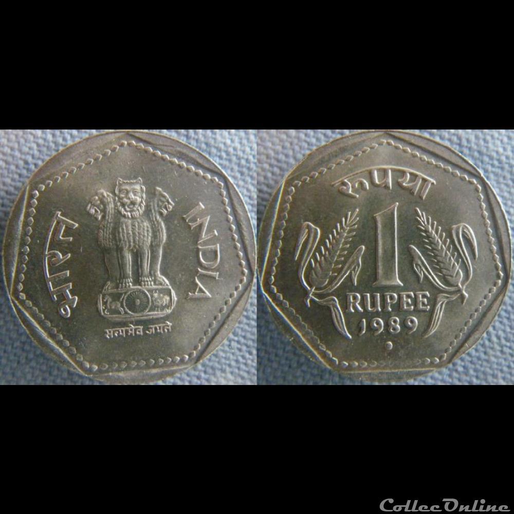 monnaie monde inde 1 roupie 1989