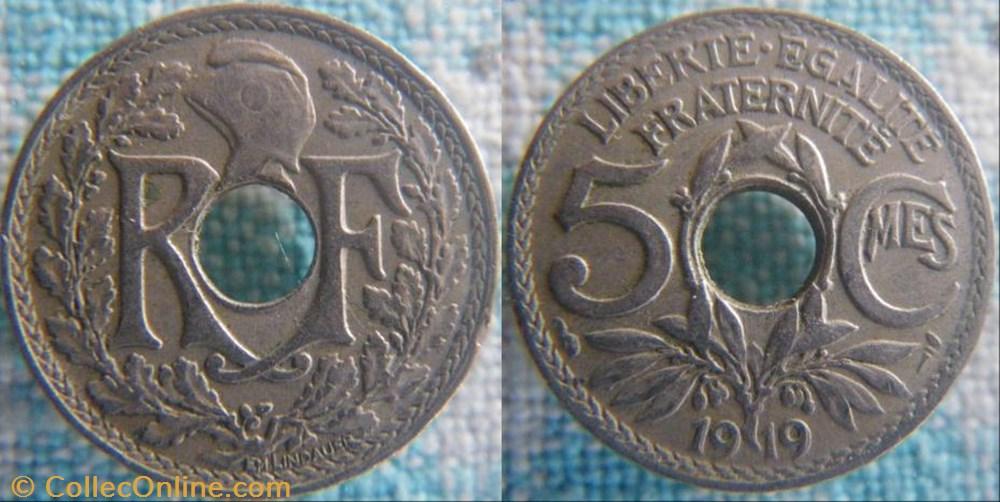 monnaie france a moderne 5 centimes 1919
