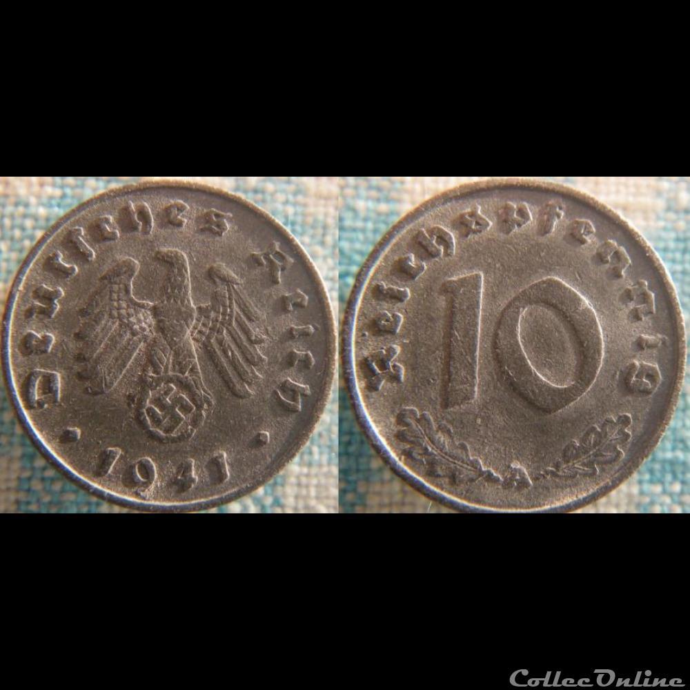 monnaie monde allemagne 10 reichspfennig 1941 a