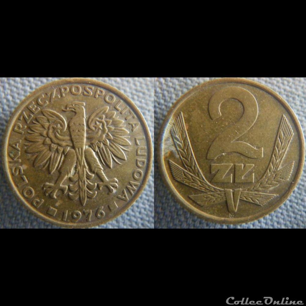 monnaie monde pologne 2 zlote 1976