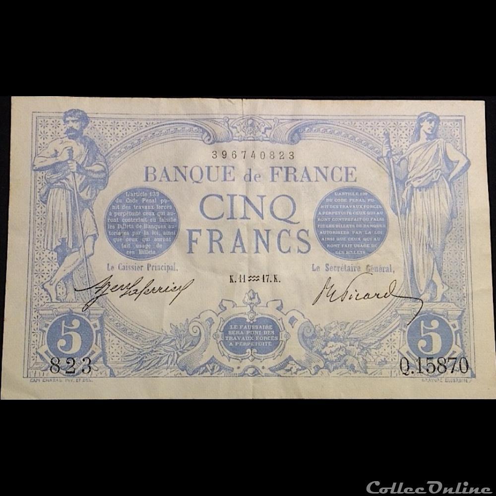 billet france banque de xxe 11 01 1917 q 15870 823