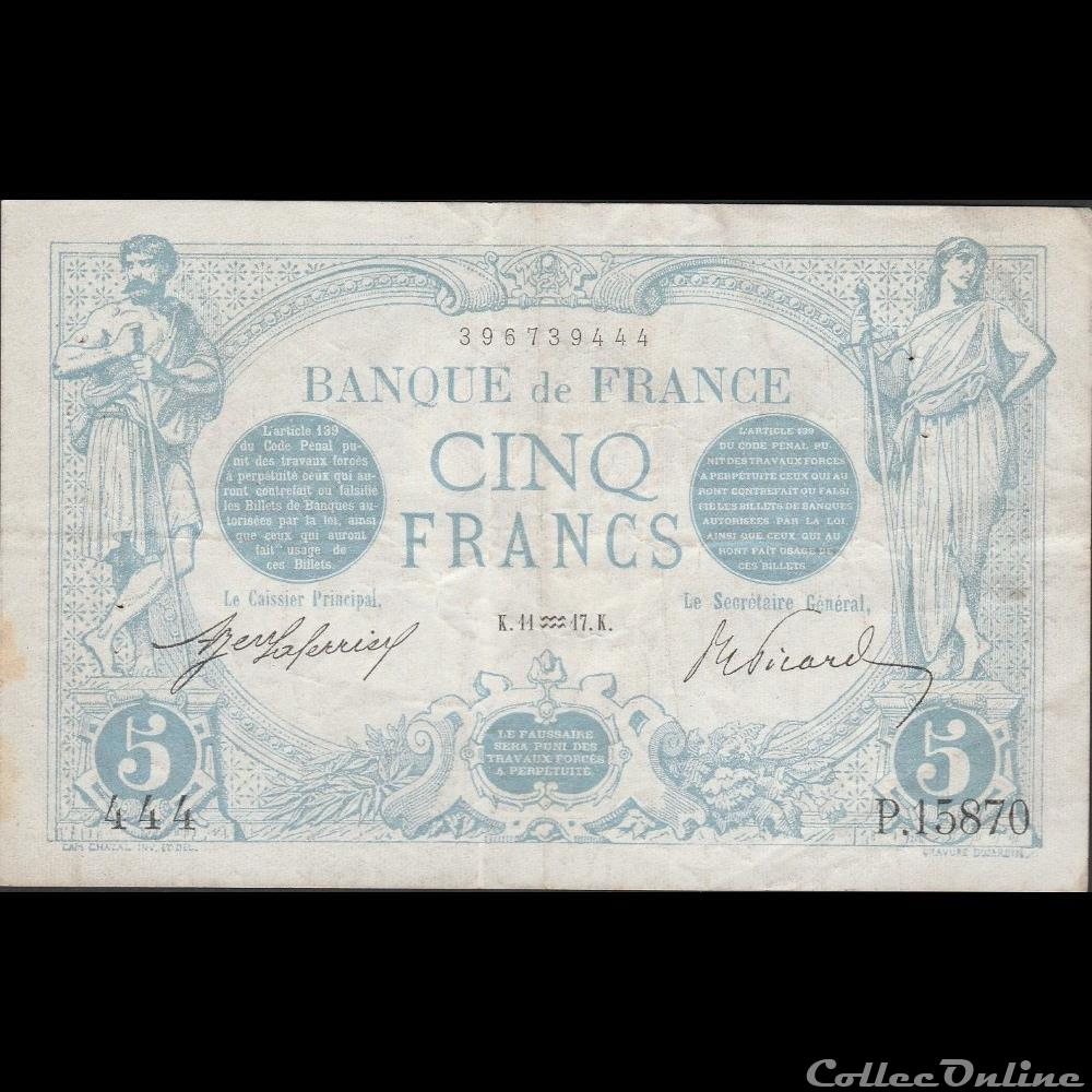 billet france banque de xxe 11 01 1917 p 15870 444