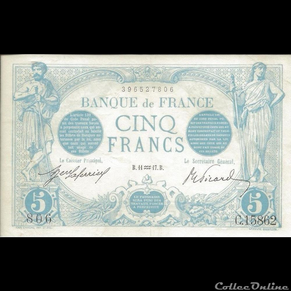 billet france banque de xxe 11 01 1917 c 15862 806