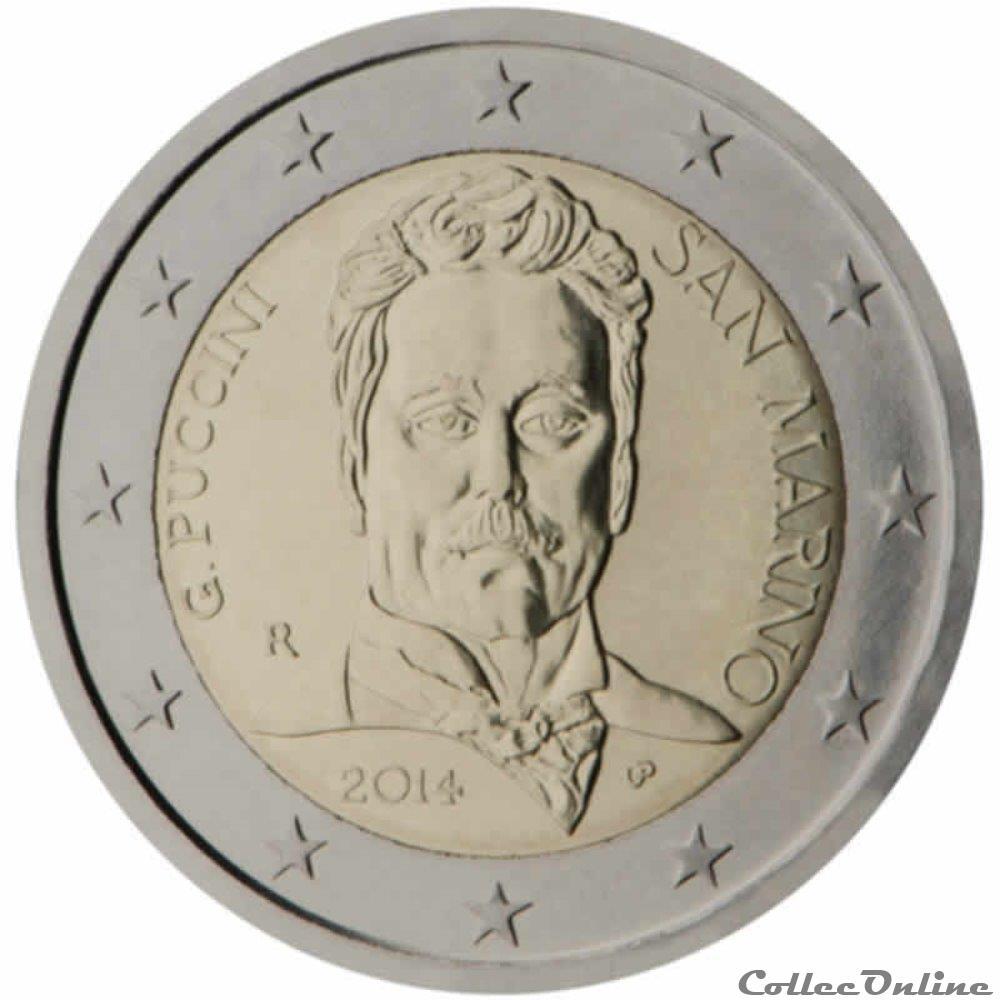 monnaie 2 euro saint marin 2014