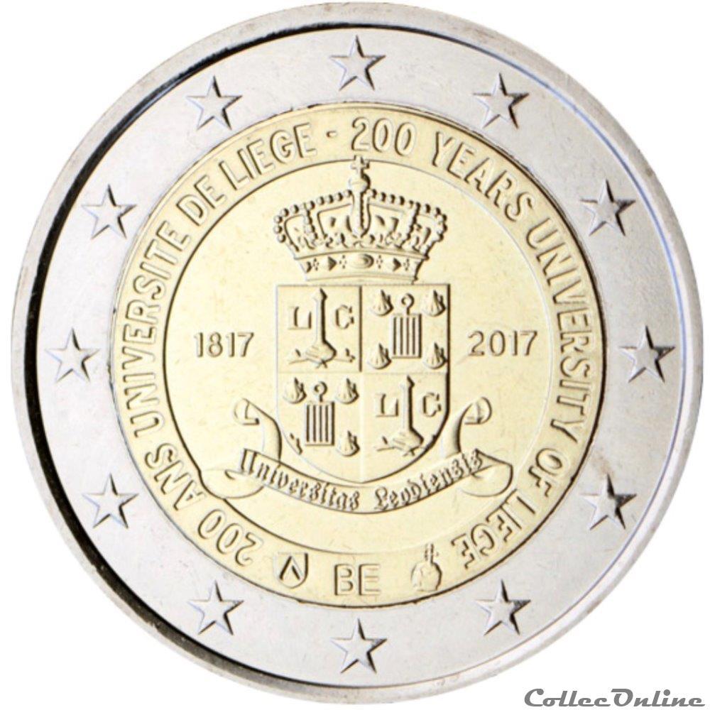 monnaie 2 euro belgique 2017