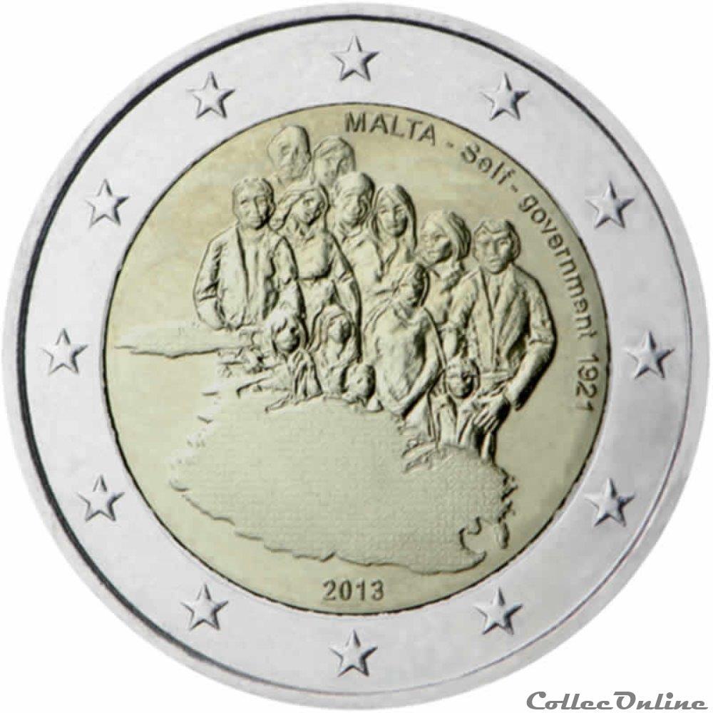 monnaie 2 euro malte 2013