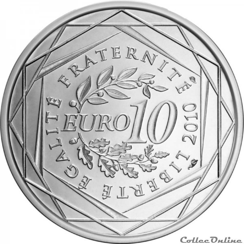 monnaie france 10 euros nord pas de calais 2010
