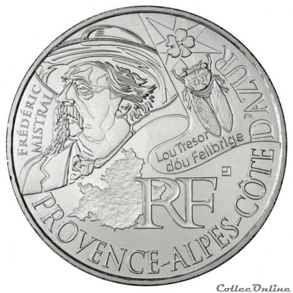 monnaie france 10 euros provence alpes cote azur 2012