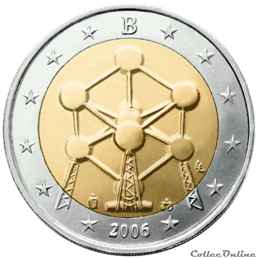 monnaie 2 euro belgique 2006