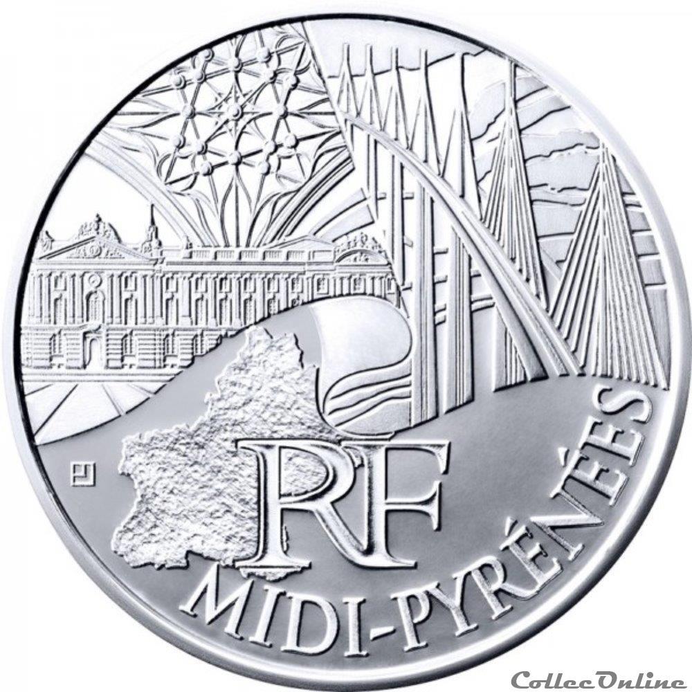 monnaie france 10 euros midi pyrenees 2011